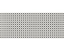 Opoczno BLACK and WHITE inserto pattern D 20x50 cm OP399-006-1
