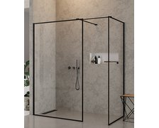 New Trendy NEW MODUS BLACK WALK-IN 140 x 90 x 200 cm EXK-0119