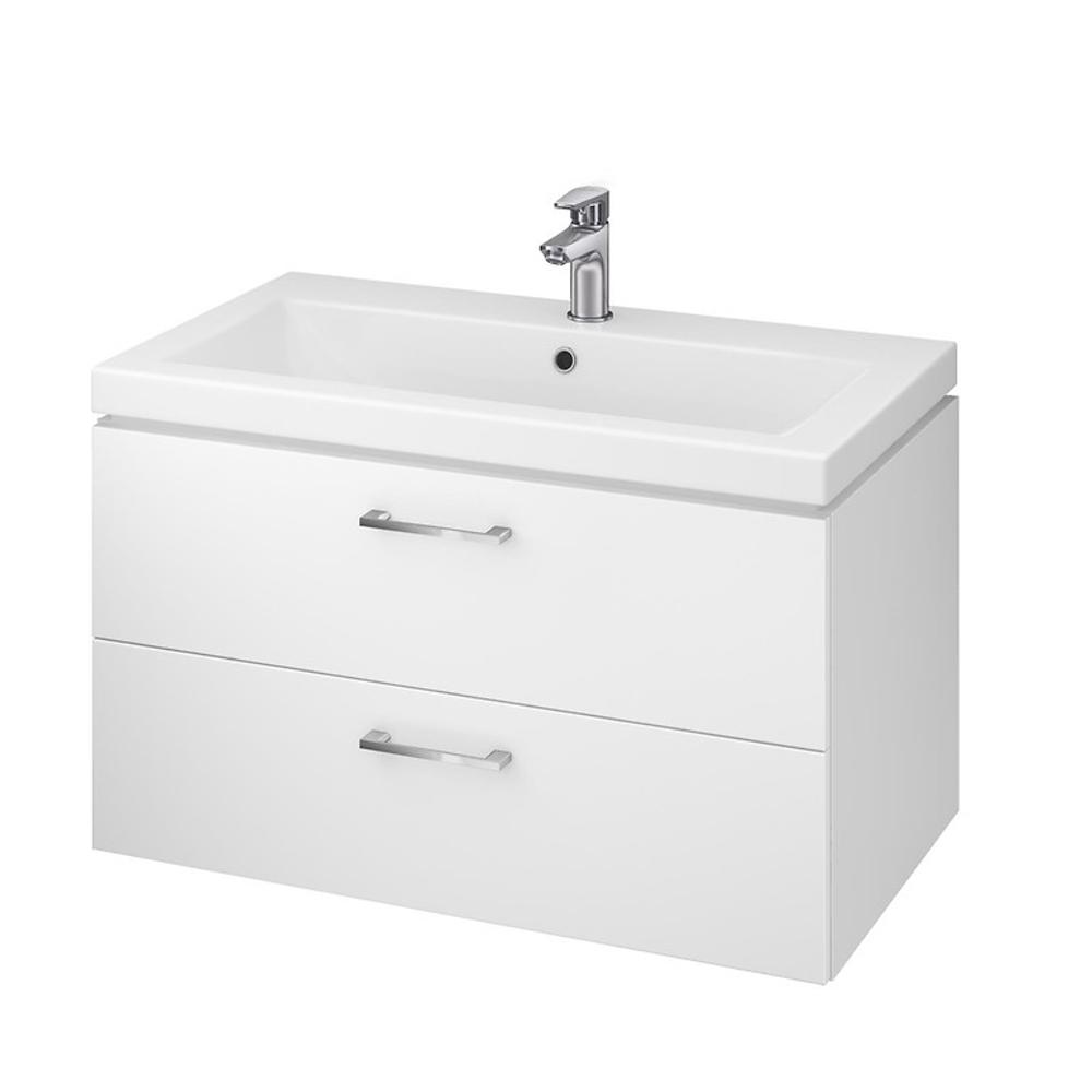 e0a94e340dd4e CERSANIT SET LARA skrinka pod umývadlo biela lesklá s umývadlom COMO 80 cm  S801-149. >